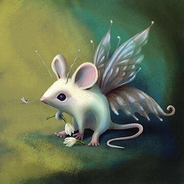 mouse with wings artwork